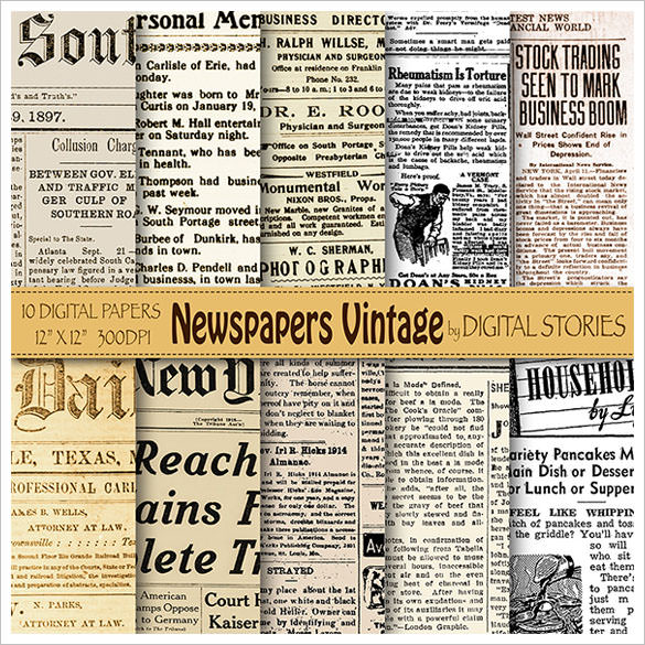 Sample Old Newspaper Template - 11+ Documents in PDF , PSD , Word