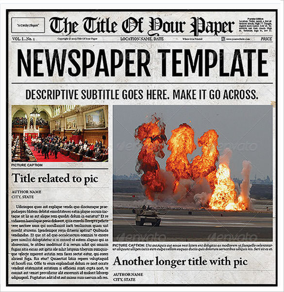 12 Old Newspaper Templates to Download Sample Templates - old newspaper template