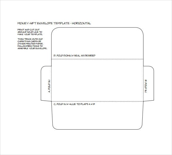 Money Envelope Template -7 + samples , Examples  Format