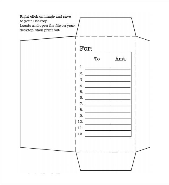Money Envelope Template -7 + samples , Examples  Format - sample 5x7 envelope template