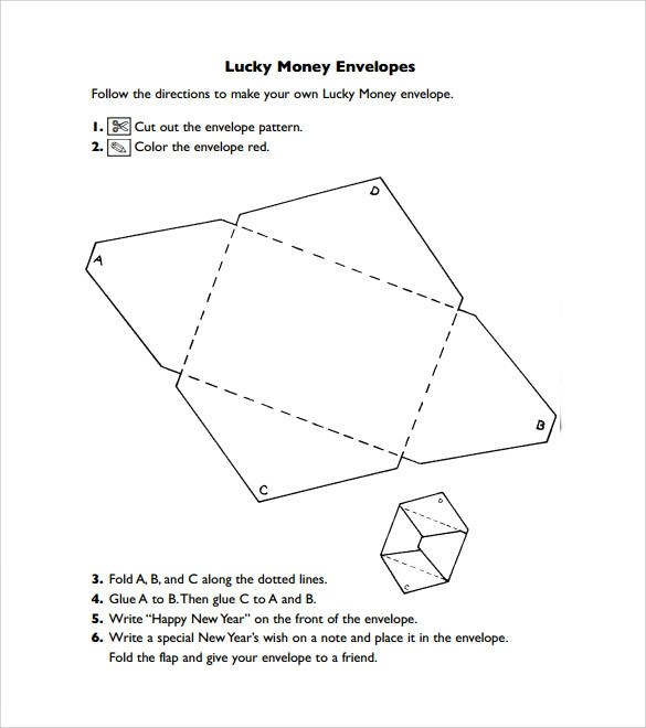 8 Money Envelope Templates \u2013 Samples , Examples  Format Sample - sample money envelope template