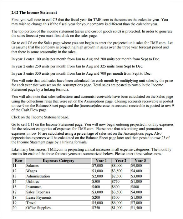 pro forma financial statement template - Intoanysearch