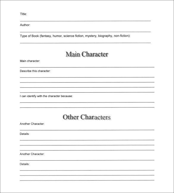 Book Summary Template - 6+ Samples, Examples  Format