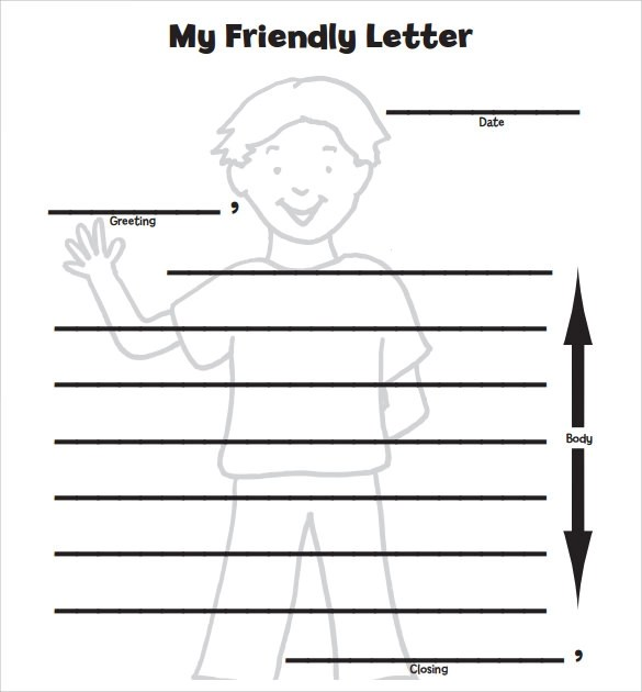 8+ Letter Format for Kids \u2013 Samples, Examples  Format Sample - free format letter