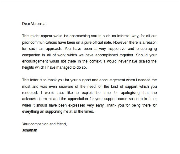 10 Personal Letter Formats \u2013 Samples , Examples  Format Sample - personal thank you letter