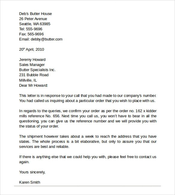 sample of a business letter radiovkm