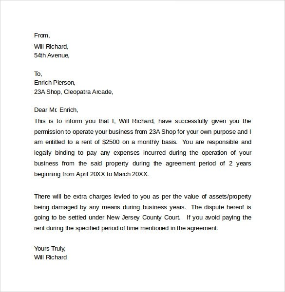 8 Legal Letter Templates \u2013 Samples , Examples  Formats Sample - sample legal letter format