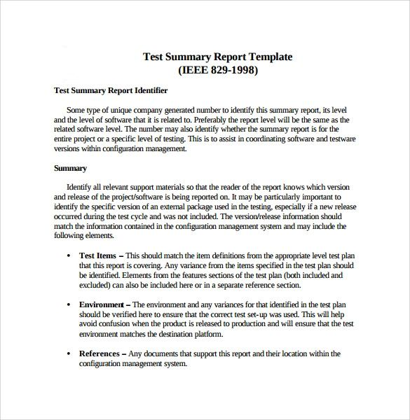 format for executive summary