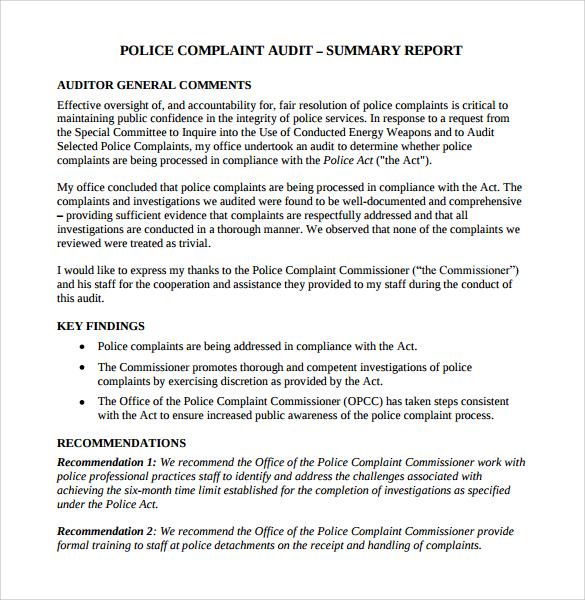 general report format - Josemulinohouse
