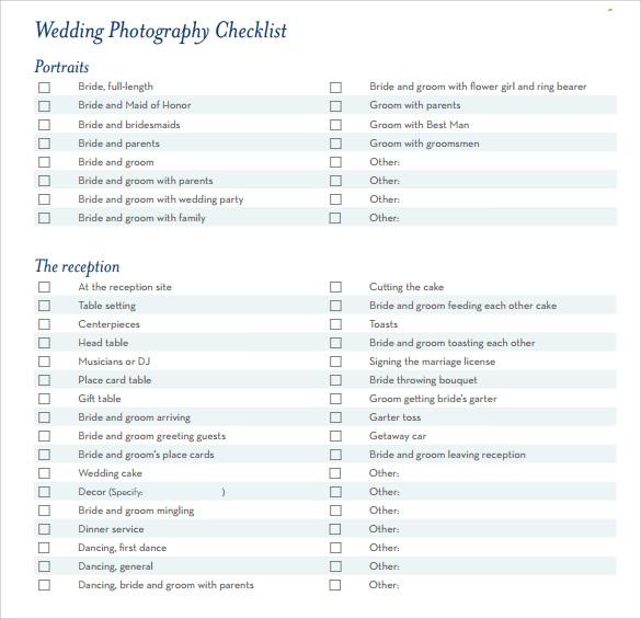 7+ Wedding Planning Checklist Samples Sample Templates