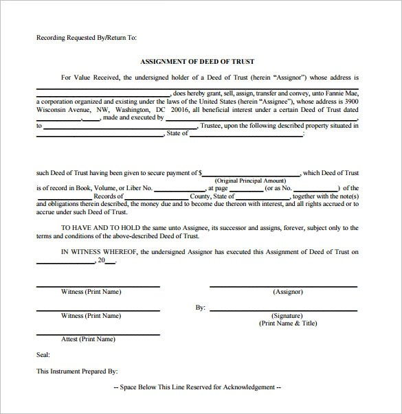 Nice Sample Deed Of Trust Form Pictures - Best Resume Examples by - sample deed of trust form