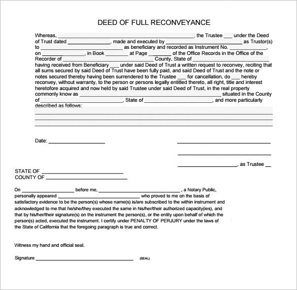 Deed Of Trust Form kicksneakers - sample deed of trust form