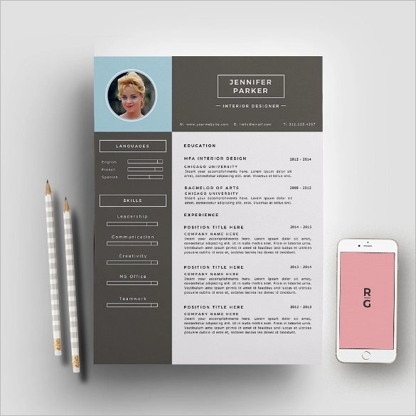 Designer Resume Samples todaysclix - Interior Designer Resume Sample