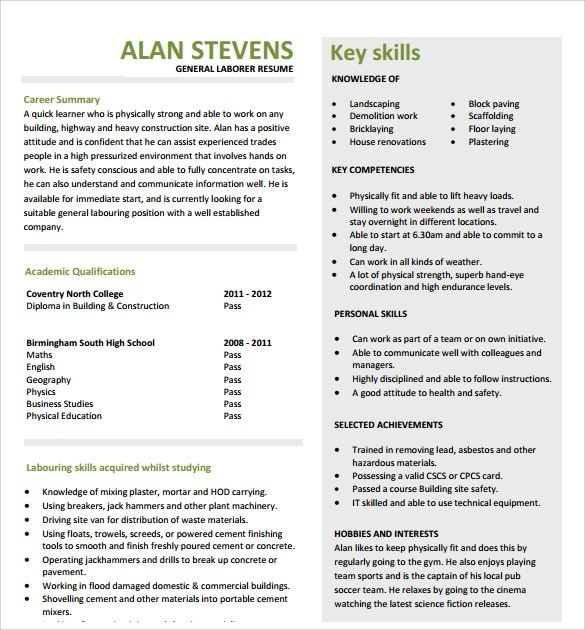 Understanding Computers Today and Tomorrow, Comprehensive - resume template construction worker