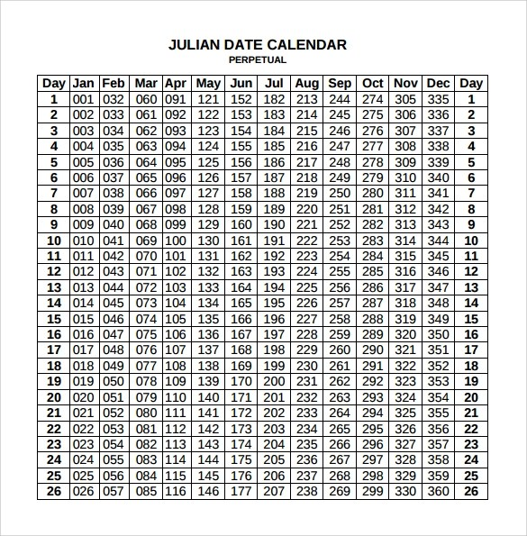 "Printable Yearly Calendar With Julian Dates Free Yearly Blank Calendar Template Printable Blank Search Results For ""free Printable Julian Calendar"