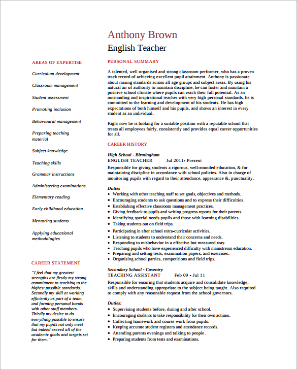 resume example for accounting tutor