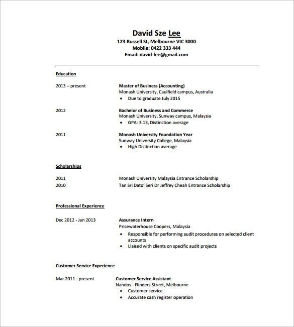 Sample Tutor Resume Template - 7+ Free Sample , Examples , Formats