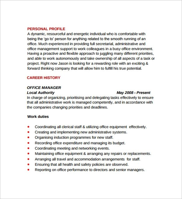 8 Office Manager Resumes to Download for Free Sample Templates