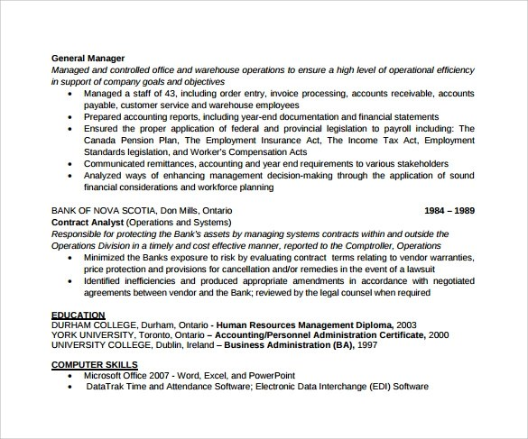 Sample Office Manager Resumes - 7+ Download Free Documents In PDF, Word