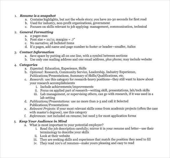 vanderbilt resume template