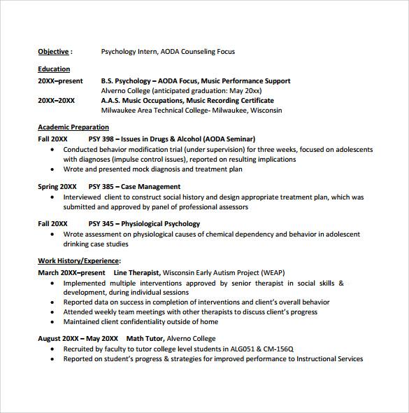 resume template for recent college graduate