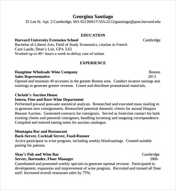 resume templates bartenders free bartenders resume templates free resume builder resume now job description example of