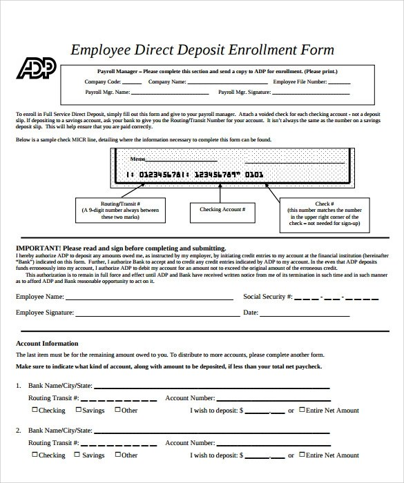 Top Result 60 Lovely Direct Deposit forms for Employees Template