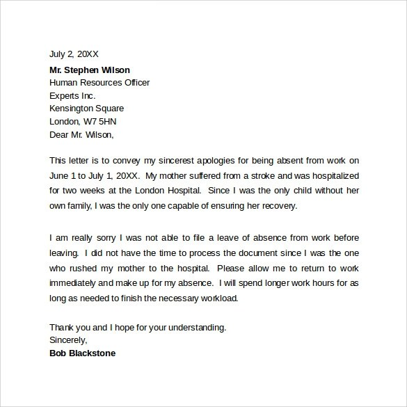 10 Professional Apology letters Download for Free Sample Templates - apology letter to family