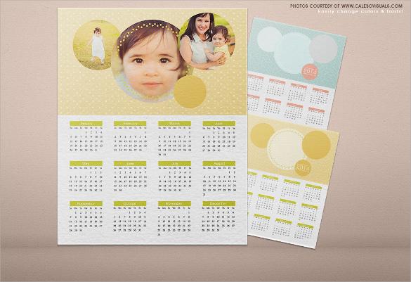 Cute Calendar Template - 13+ Download Free Documents in PDF , Word