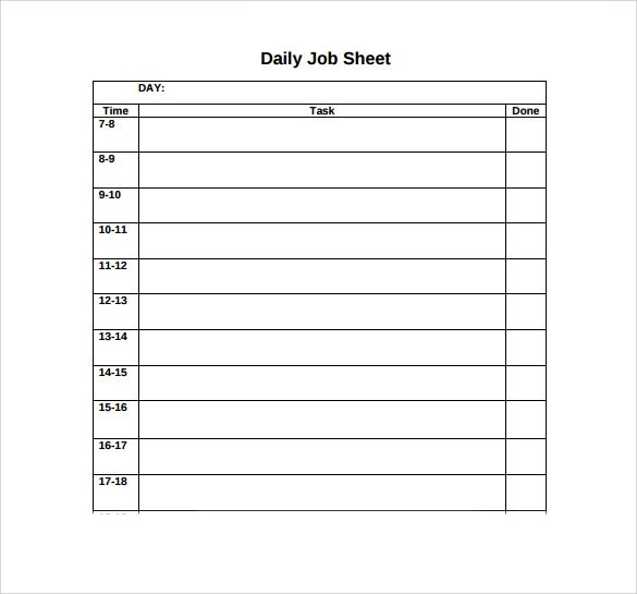 job sheet - Tappptapizza - job sheet template free download