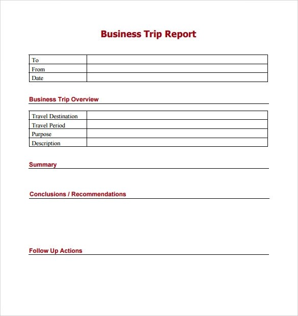 12+Trip Report Templates - Word, Google Docs, Apple Pages