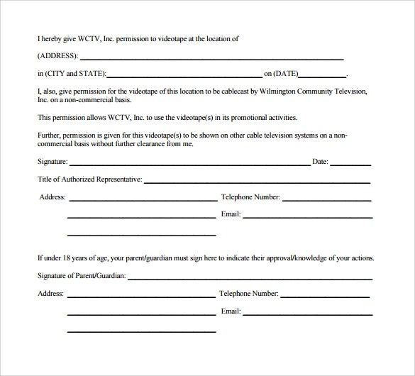 location release form template - Takethemic