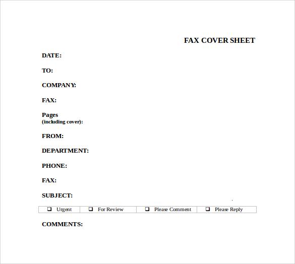 sample cover sheet for resume