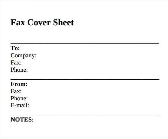 Sample Standard Fax Cover Sheet \u2013 11+ Documents in Word, PDF