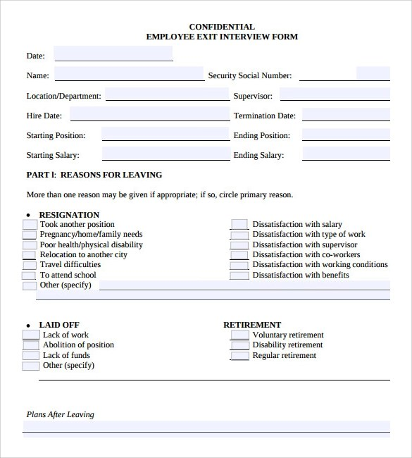 Employee Interview Evaluation Form | Professional Resume Cover ...