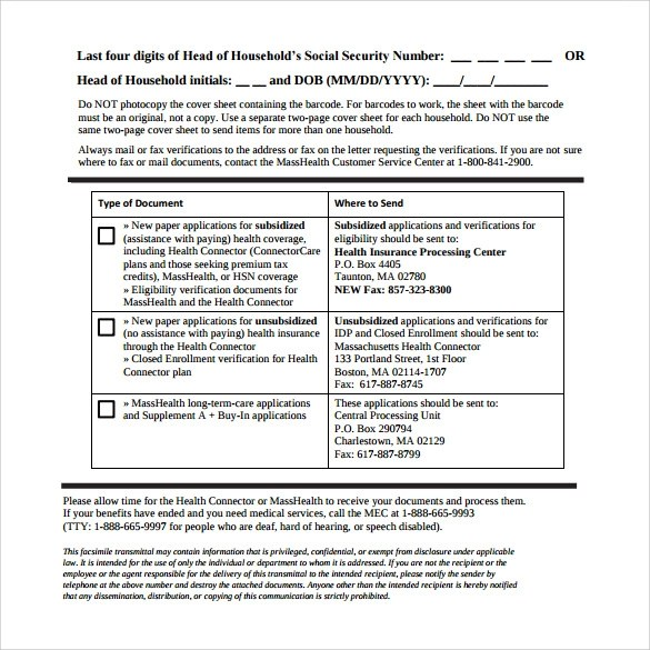 Sample Standard Fax Cover Sheet u2013 11+ Documents in Word, PDF - fax sheet example