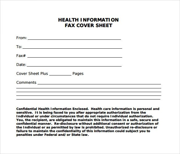Sample Blank Fax Cover Sheet - 9+ Free Samples, Examples, Format - sample cute fax cover sheet
