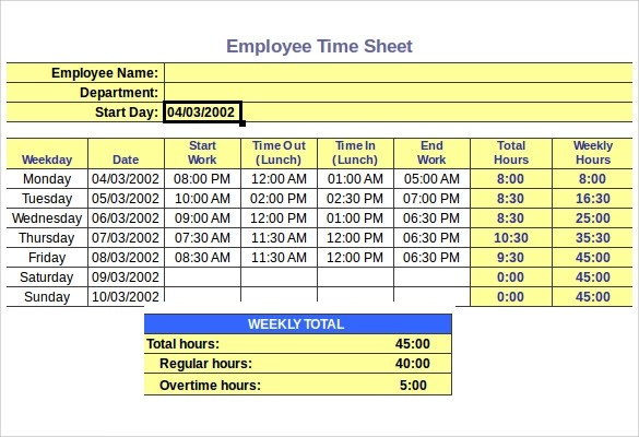 timesheet hours calculator - Onwebioinnovate