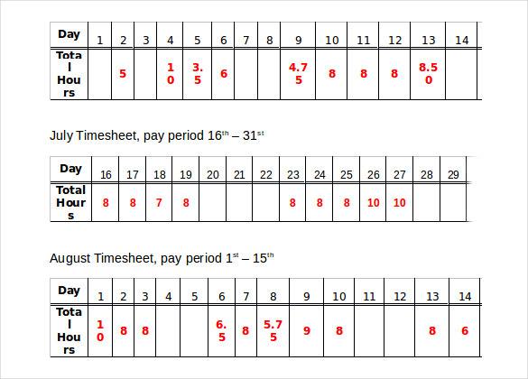 11+ Hourly Timesheet Calculators u2013 11+ Free Sample, Example, Format - hourly timesheet calculator