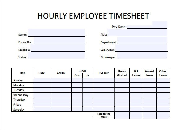 Amazing Sample Hourly Timesheet Calculator Photos  Best Resume