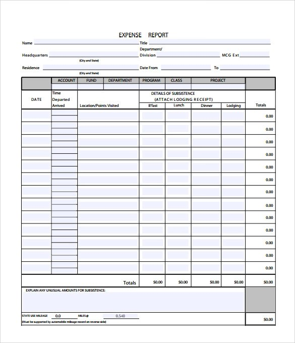 Sample Travel Expense Calculator - 9+ Documents in PDF
