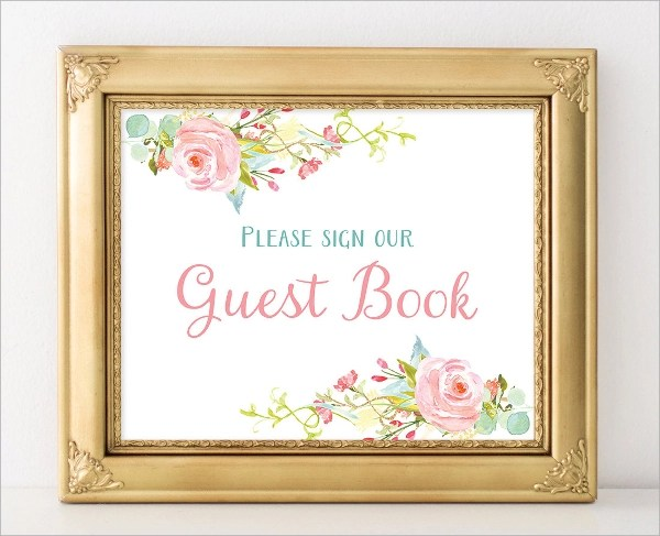 10+ Guest Books Sample Templates - printable guest book templates