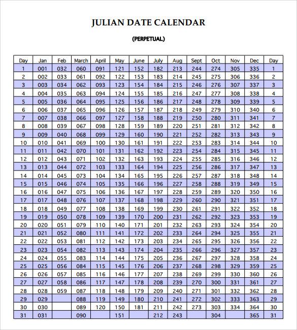 9 Julian Calendar Templates to Download Sample Templates