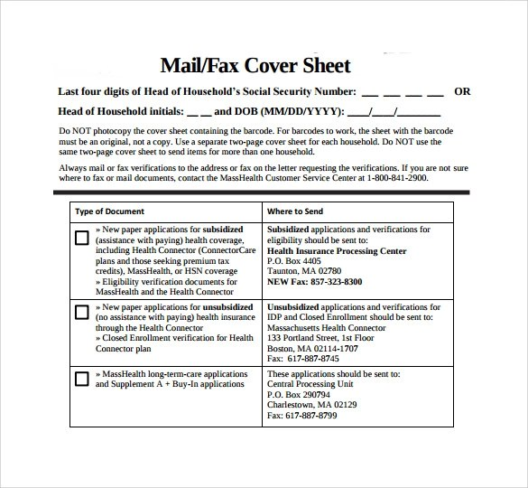 Sample Fax Cover Sheet u2013 11+ Documents in PDF, Word - fax sheet example