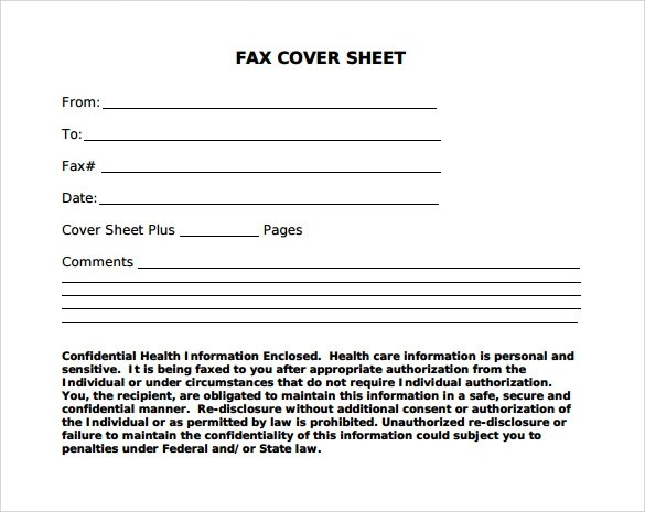 12+ Sample Fax Cover Sheets Sample Templates