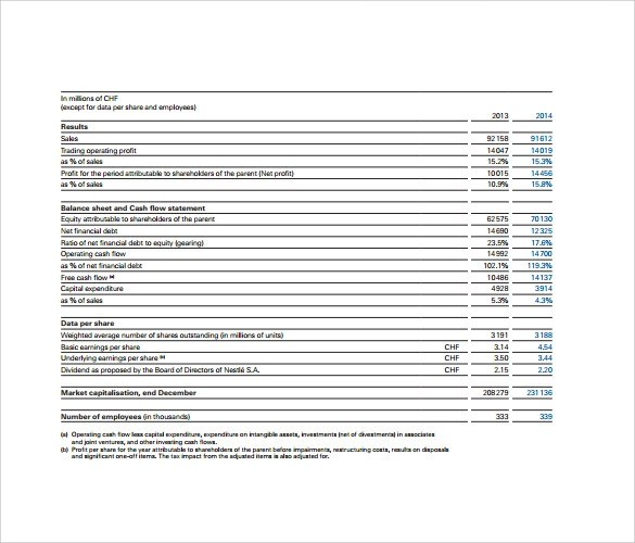 11+ Financial Report Templates Sample Templates