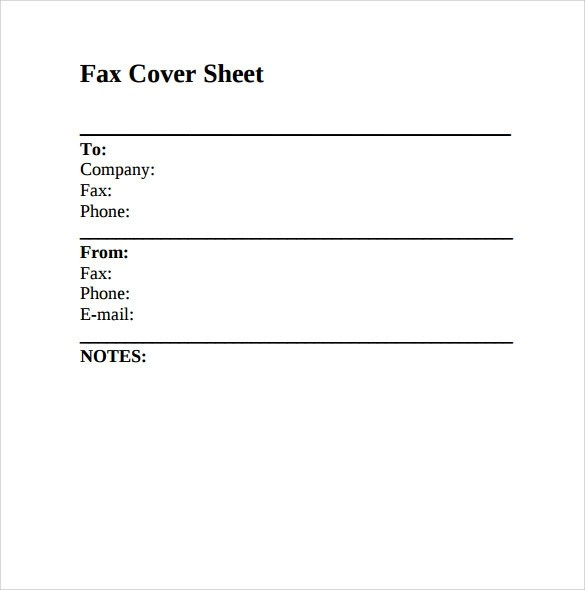 9+ Sample Fax Cover Sheets Sample Templates