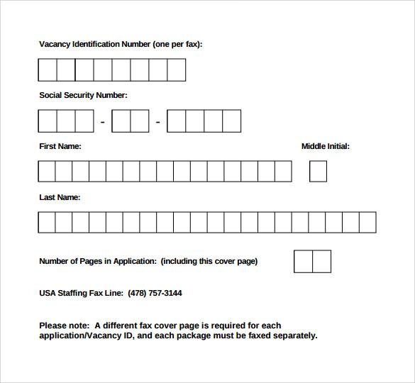 fax coversheet template