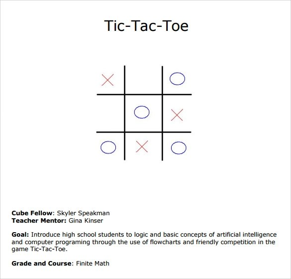 Sample Tic-tac Toe Template - 9+ Free Documents in PDF , Doc - sample tic tac toe template