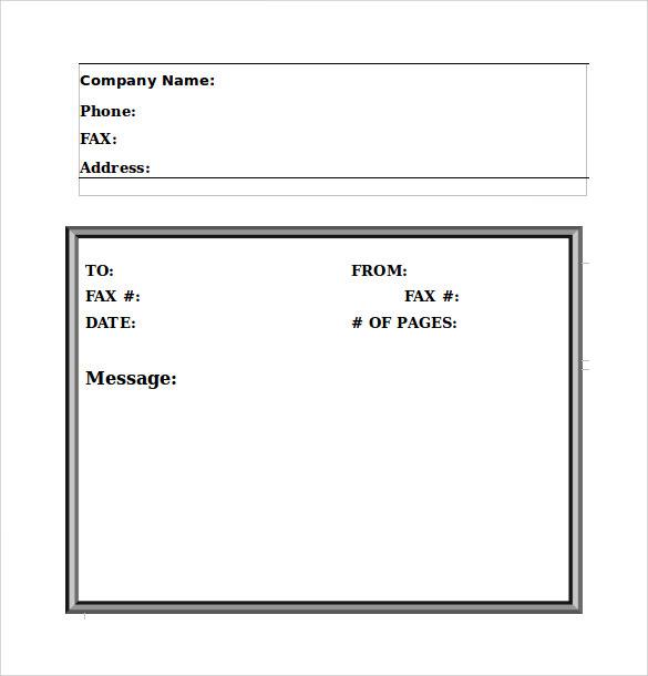 simple fax cover letter - Roho4senses